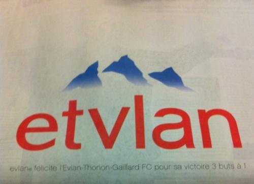 Evian - Et vlan l'OM !